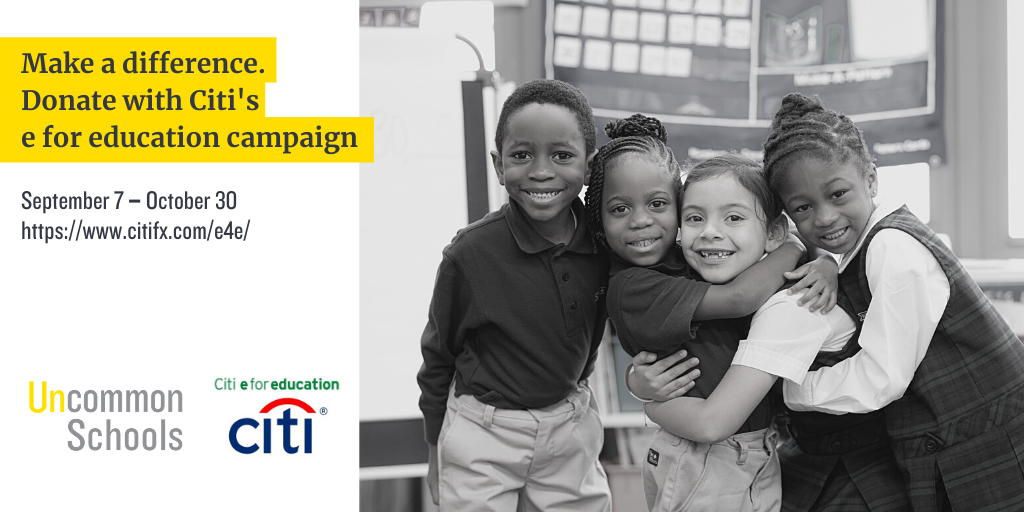 Citi e for education campaign runs September 7 to October 30.