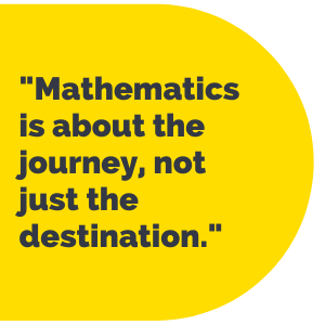 """Pull Quote: """"Mathematics is about the journey, not just the destination."""""""