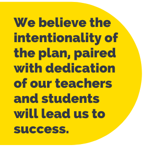 Pull Quote: We believe the intentionality of the plan, paired with dedication of our teachers and students will lead us to success.